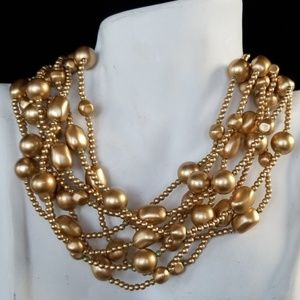 Vintage Carol Lee Multi-Strand Beaded Necklace